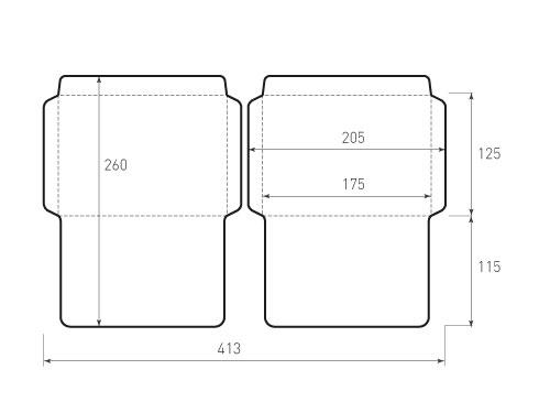 Горизонтальный конверт 175x125