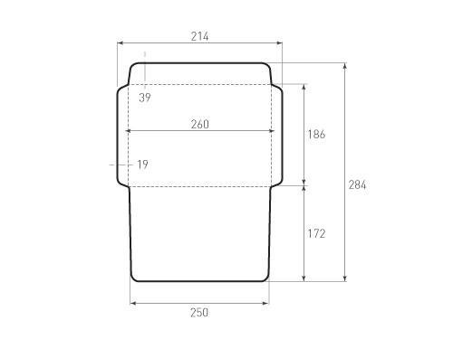 Штамп для вырубки горизонтального конверта kg 186x260 (1 шт. на штампе). Привью 500x375 пикселов