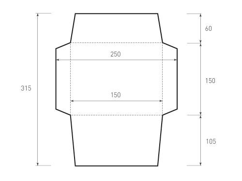 Горизонтальный конверт 190x150