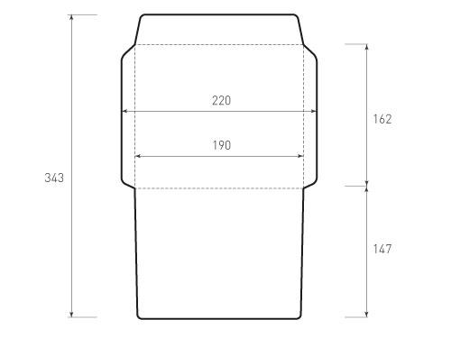Горизонтальный конверт 190x162
