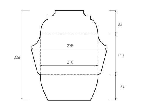 Горизонтальный конверт 210x148
