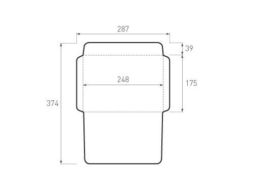 Штамп для вырубки горизонтального конверта kg 248x175 (1 шт. на штампе). Привью 500x375 пикселов