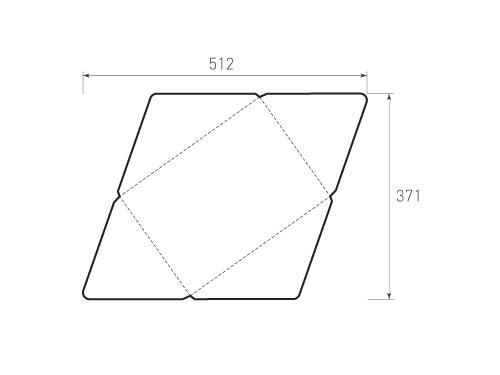Штамп для вырубки горизонтального конверта kg 310x220 (1 шт. на штампе). Привью 500x375 пикселов
