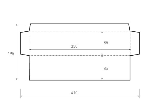 Горизонтальный конверт 350x85