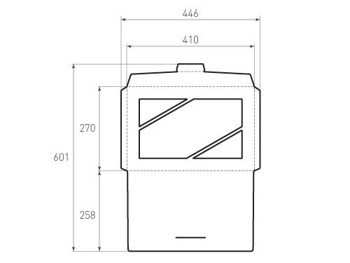 Штамп для вырубки горизонтального конверта kg 410x270 (1 шт. на штампе). Привью 500x375 пикселов