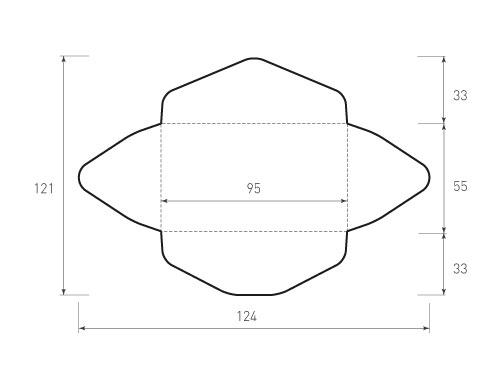Горизонтальный конверт 95x55