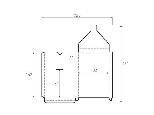 Штамп для вырубки вертикального конверта kv 102x152x11 (1 шт. на штампе). Привью 500x375 пикселов
