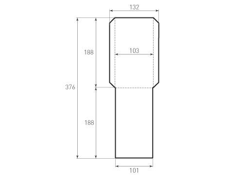 Штамп для вырубки вертикального конверта kv 103x188 (1 шт. на штампе). Привью 500x375 пикселов