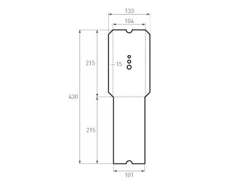 Штамп для вырубки вертикального конверта kv 104x215 (1 шт. на штампе). Привью 500x375 пикселов