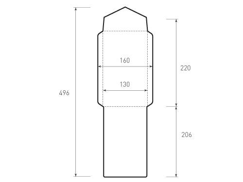 Вертикальный конверт 130x220