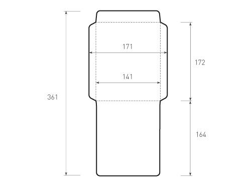 Вертикальный конверт 141x172