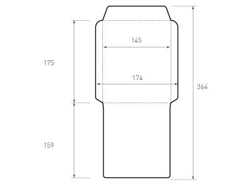 Вертикальный конверт 145x175