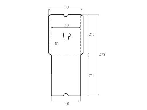 Штамп для вырубки вертикального конверта kv 150x210 (1 шт. на штампе). Привью 500x375 пикселов