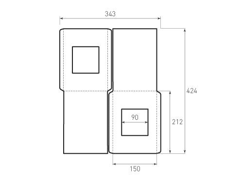 Штамп для вырубки вертикального конверта kv 150x212 (2 шт. на штампе). Привью 500x375 пикселов