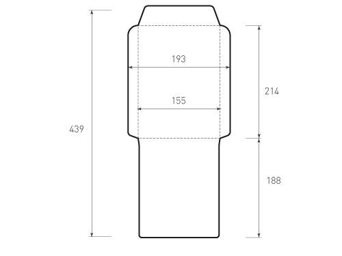 Вертикальный конверт 155x214
