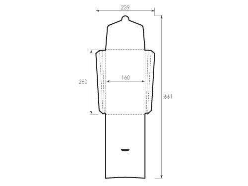 Штамп для вырубки вертикального конверта kv 160x260x24 (1 шт. на штампе). Привью 500x375 пикселов