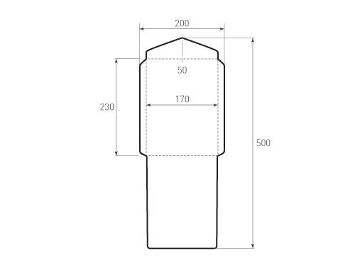 Штамп для вырубки вертикального конверта kv 170x230 (1 шт. на штампе). Привью 500x375 пикселов