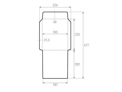 Штамп для вырубки вертикального конверта kv 185x225 (1 шт. на штампе). Привью 500x375 пикселов