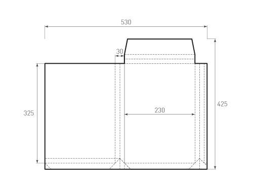 Штамп для вырубки горизонтального конверта kv 230x325x30 (1 шт. на штампе). Привью 500x375 пикселов