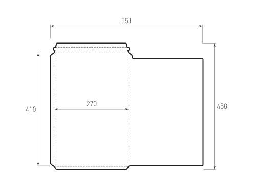 Штамп для вырубки вертикального конверта kv_270x410 (3 шт. на штампе). Привью 500x375 пикселов