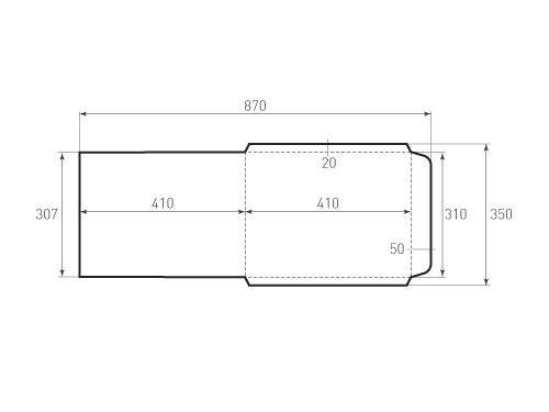 Штамп для вырубки вертикального конверта kv 310x410 (1 шт. на штампе). Привью 500x375 пикселов