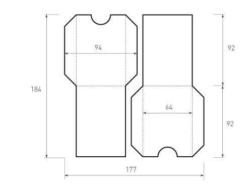 Вертикальный конверт без клапана 64x92