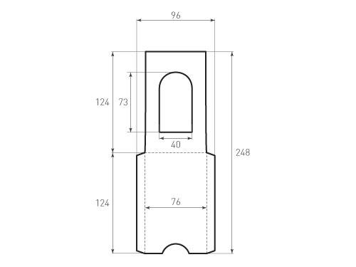 Штамп для вырубки вертикального конверта kv 76x124 (1 шт. на штампе). Привью 500x375 пикселов