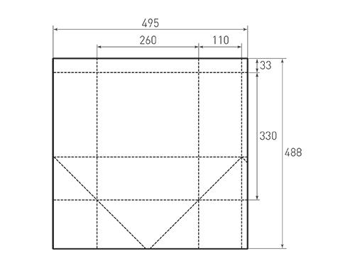 Штамп для вырубки вертикального бумажного пакета v 260-330-220 (1 шт. на штампе). Привью 500x375 пикселов.