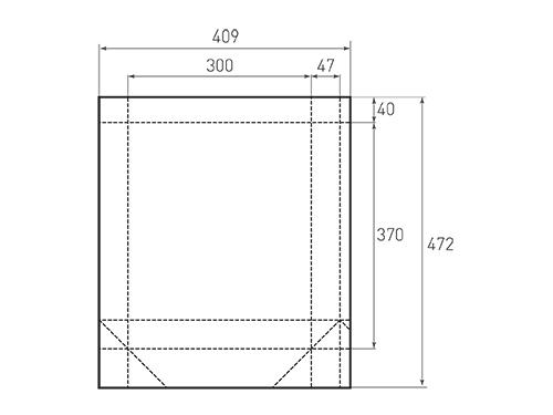 Штамп для вырубки вертикального бумажного пакета v 300-370-94 (1 шт. на штампе). Привью 500x375 пикселов.