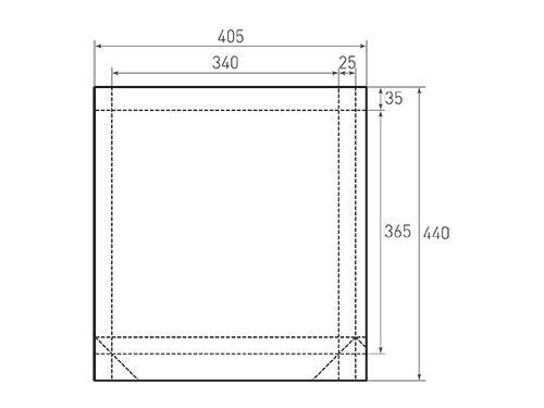 Штамп для вырубки вертикального бумажного пакета v 340-365-50 (1 шт. на штампе). Привью 500x375 пикселов.