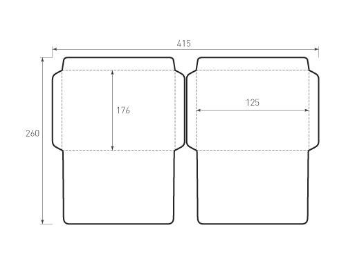 Штамп для вырубки горизонтального конверта b6 kg 176x125 2 штуки. Привью 500x375 пикселов.