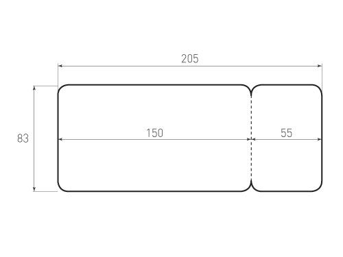 Штамп для вырубки Бирки 205x83 вим-авиа. Привью 500x375 пикселов