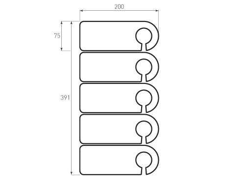 Штамп для вырубки Бирки 75x200. Привью 500x375 пикселов