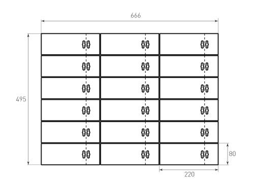 Штамп для вырубки Бирки 80x220 вексэй. 18 штук. Привью 500x375 пикселов