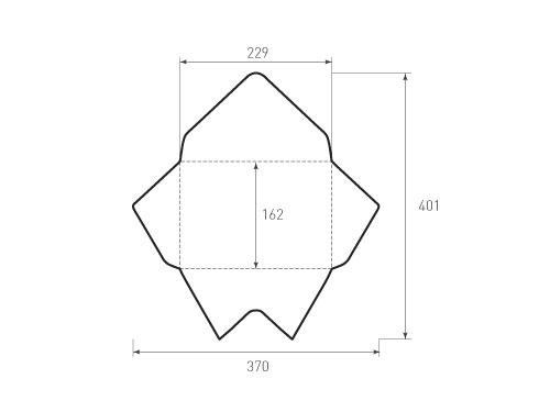 Штамп для вырубки горизонтального конверта c5 kg 229x162 treug2. Привью 500x375 пикселов.