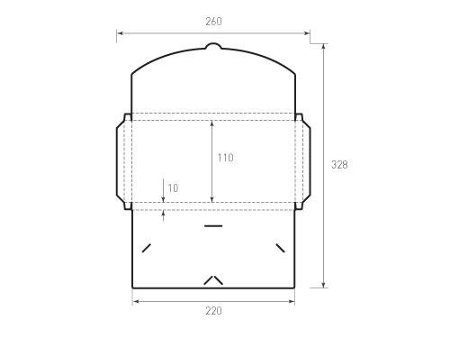 Штамп для вырубки Евро конверта euro kg 220x110x10 с 2 отверстиями для визиток. Привью 500x375 пикселов.