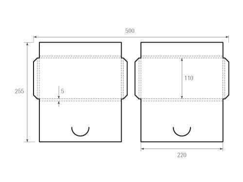 Штамп для вырубки горизонтального Евро конверта euro kg 220x110x5 2 штуки. Привью 500x375 пикселов.