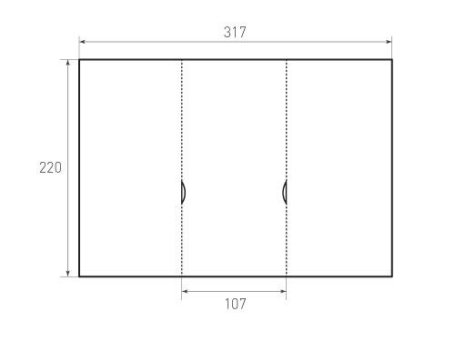 Штамп для вырубки папки фс 107x220 2Ф. Привью 500x375 пикселов.