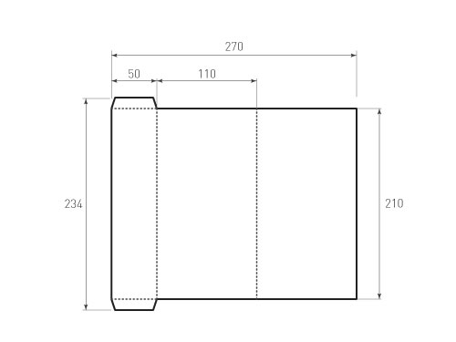 Штамп для вырубки папки фс 110x210 2Ф. Привью 500x375 пикселов.