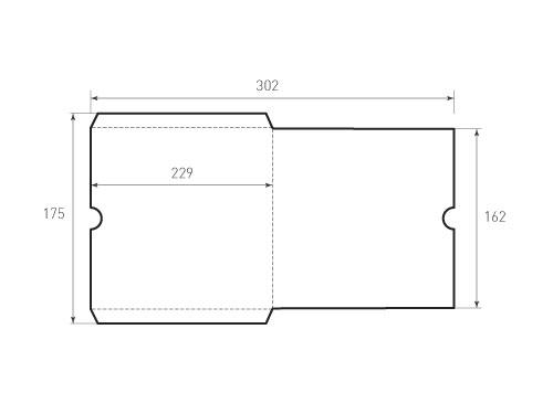 Штамп для вырубки квадратного конверта kd 151x151. Привью 500x375 пикселов.