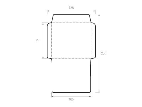 Штамп для вырубки горизонтального конверта kg 105x95. Привью 500x375 пикселов.