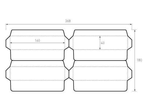 Штамп для вырубки горизонтального конверта kg 160x40 4 штуки. Привью 500x375 пикселов.