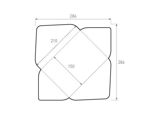 Штамп для вырубки горизонтального конверта kg 210x150 treug. Привью 500x375 пикселов.