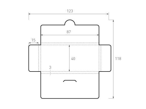 Штамп для вырубки горизонтального конверта kg 87x40x3. Привью 500x375 пикселов.