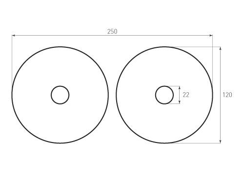 Штамп для вырубки круга krug d120 2. Прорез 22 мм. Привью 500x375 пикселов.