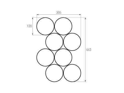 Штамп для вырубки круга krug d120_8. Привью 500x375 пикселов.