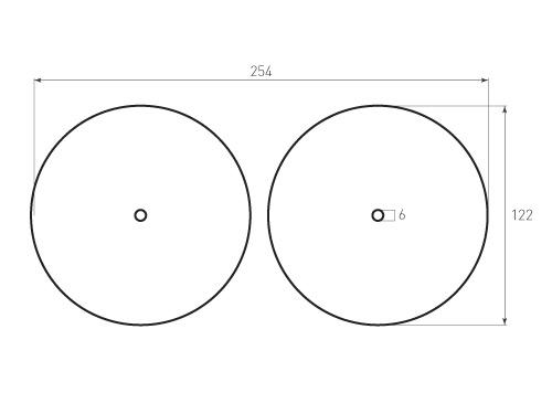 Штамп для вырубки круга krug d122 2. Прорез 6 мм. Привью 500x375 пикселов.