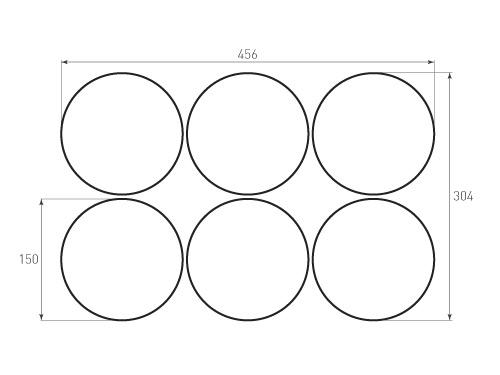 Штамп для вырубки круга krug d150 6. Привью 500x375 пикселов.