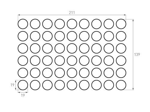 Штамп для вырубки круга krug d19 54. Привью 500x375 пикселов.