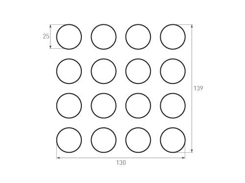 Штамп для вырубки круга krug d25 16, с надсечками. Привью 500x375 пикселов.